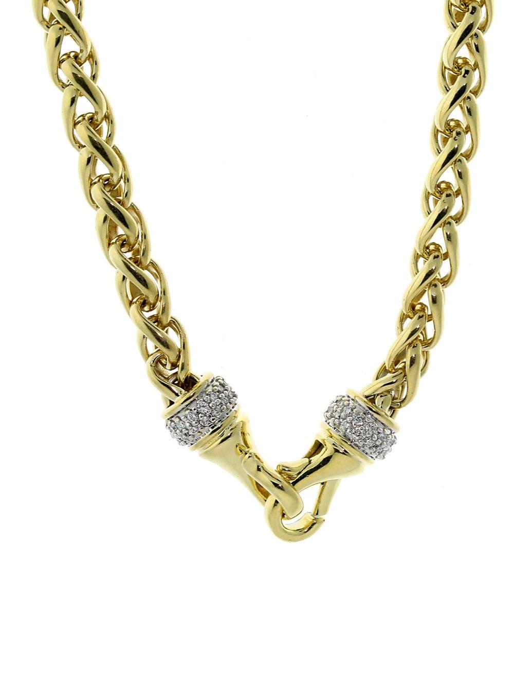 david yurman gold wheat necklace at 1stdibs