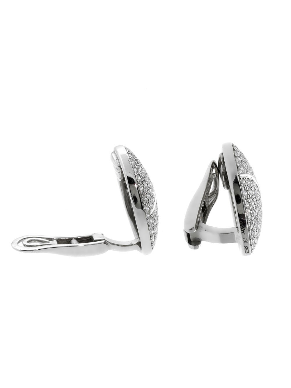 Cartier Pave Diamond Gold Earrings 2