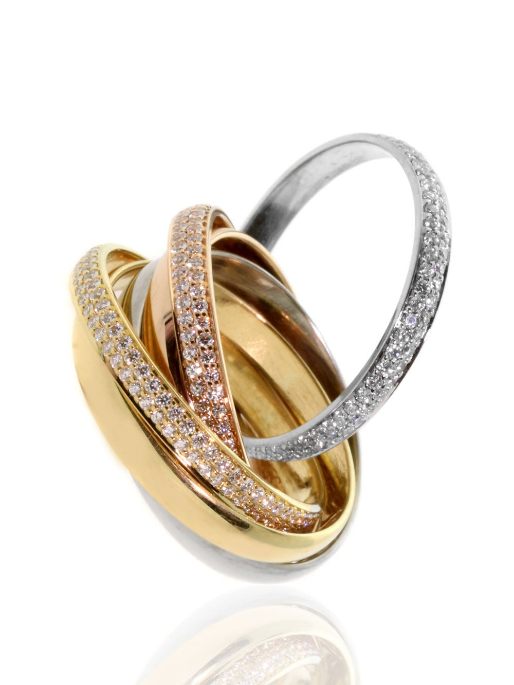 cartier three color gold ring for sale at