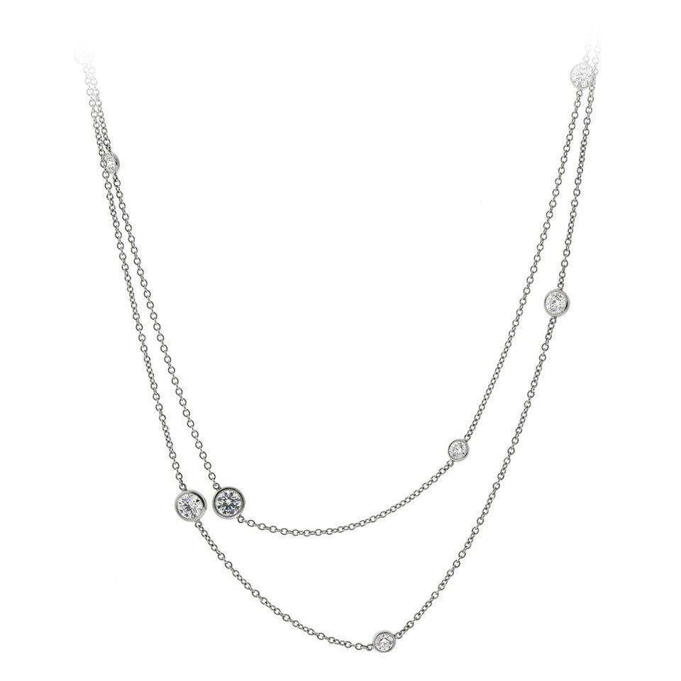 Tiffany And Co Diamonds By The Yard Necklace In Platinum