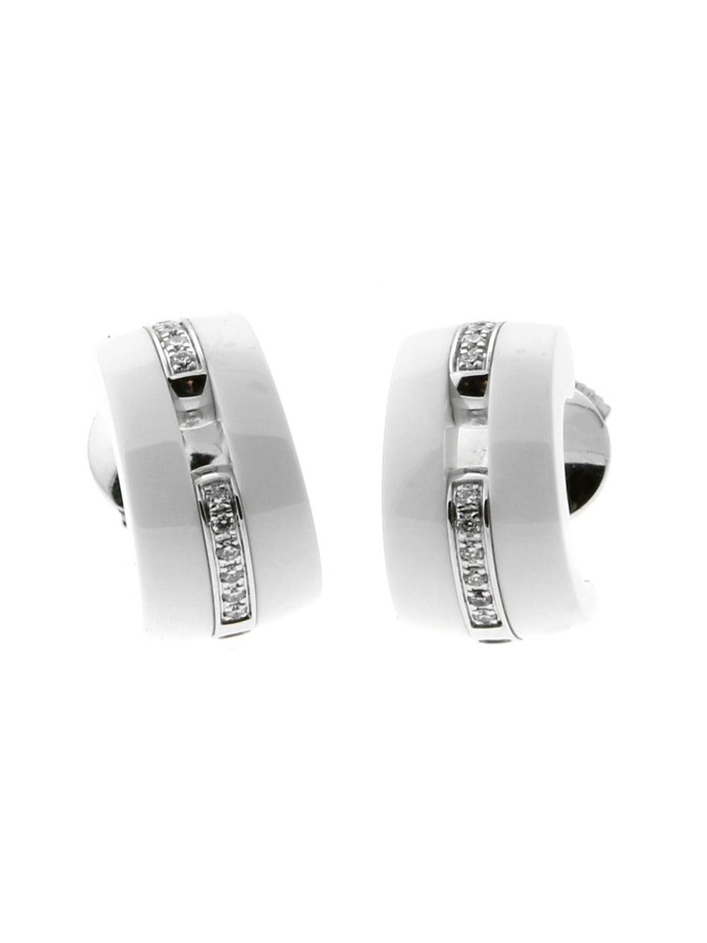 Chanel earrings 42 for sale at 1stdibs chanel ceramic ultra diamond gold earrings arubaitofo Images