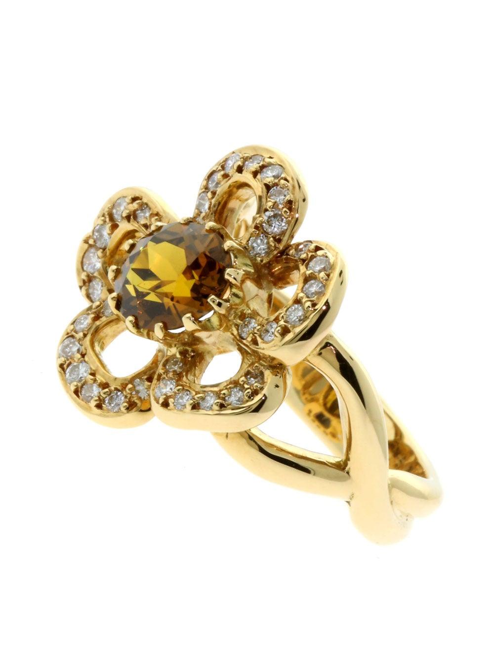 hermes gold flower ring for sale at 1stdibs