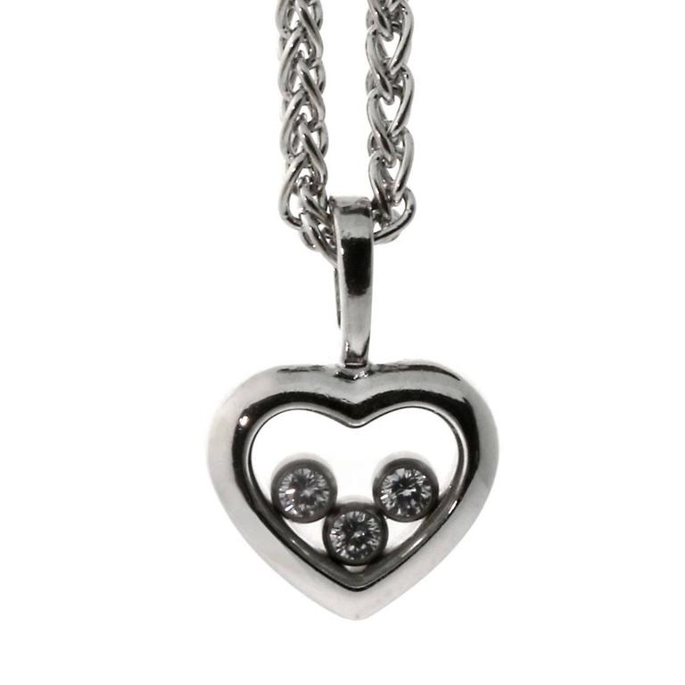 Chopard Happy Diamond Gold Heart Necklace For Sale