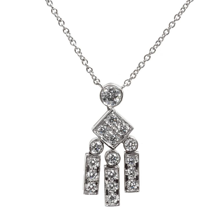 Tiffany & Co. Legacy Diamond Platinum Necklace For Sale