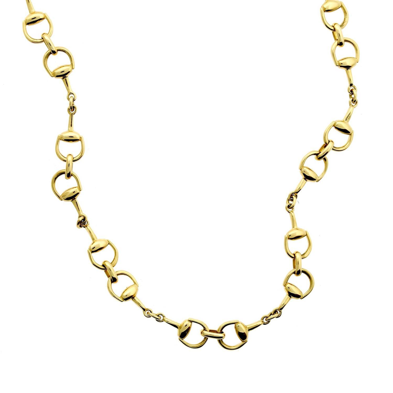 05cb0f651f4 Gucci Gold Horsebit Necklace at 1stdibs
