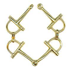 Hermes Gold Stirrup Bracelet
