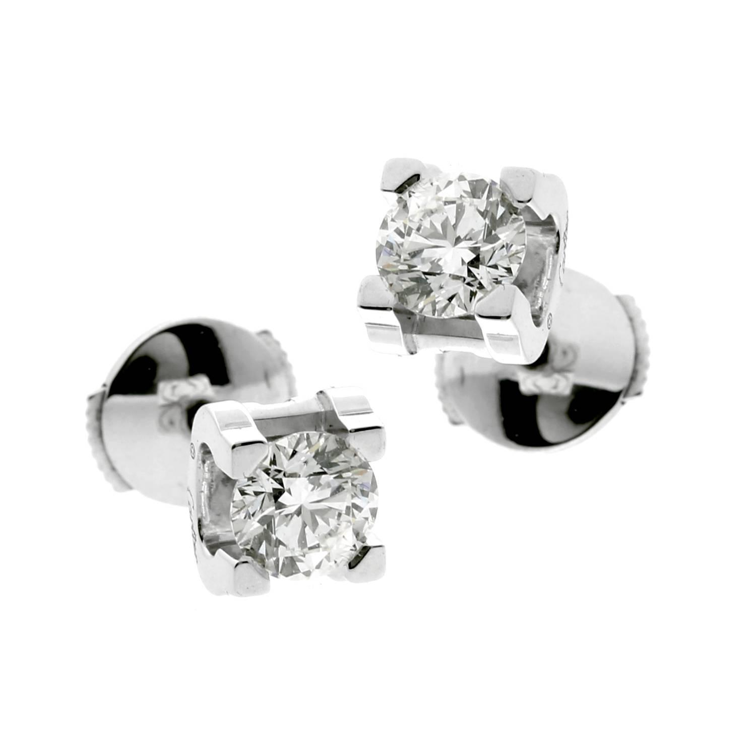 cartier solitaire earrings