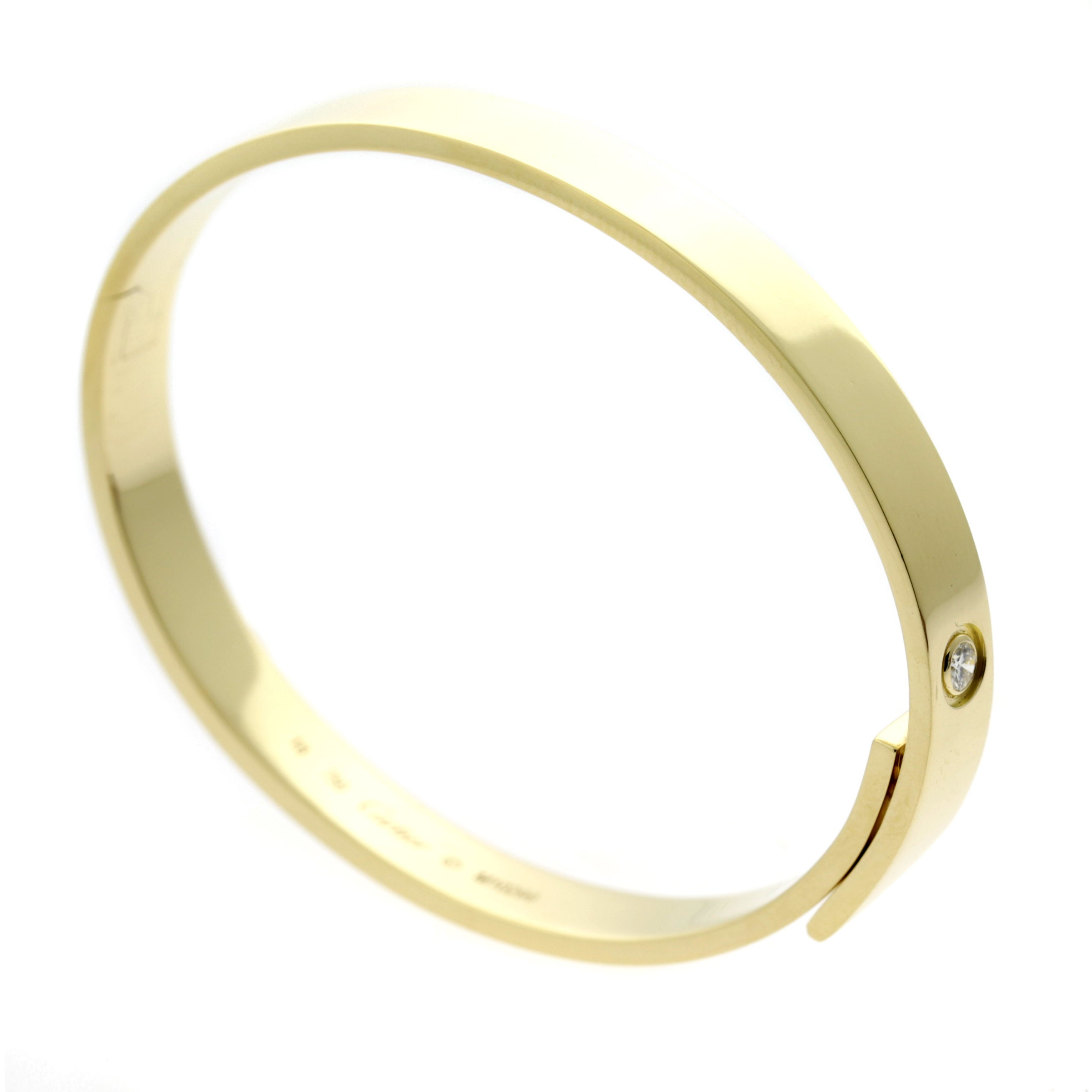 gold yellow florentine bangle cut with clasp products bangles diamond shiny