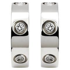 Cartier Love Six-Diamond White Gold Earrings