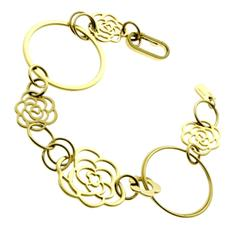 Chanel Camellia Flower Gold Bracelet