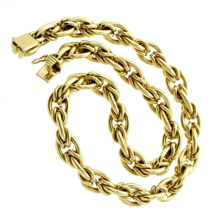 Chanel Woven Gold Choker Necklace