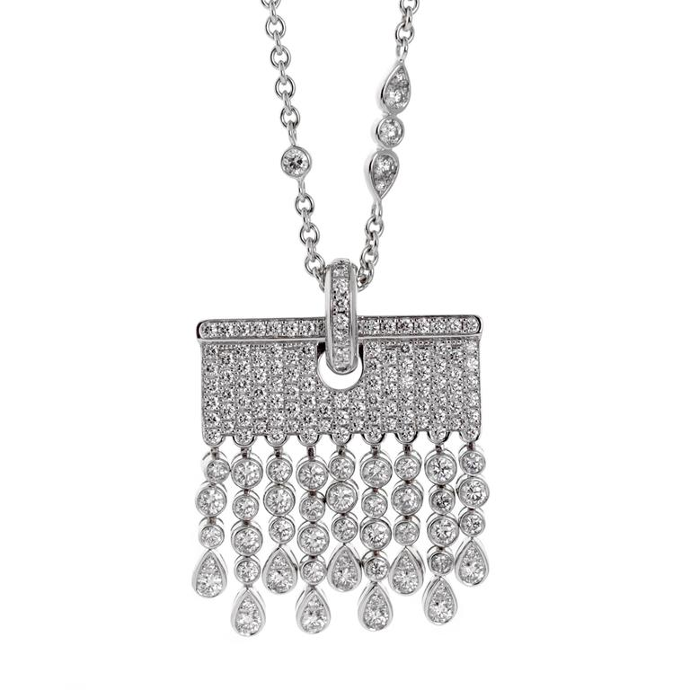 Chopard Diamond white gold Tassel Drop Necklace
