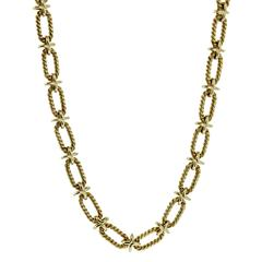 Tiffany & Co. Woven Gold Sautoir Necklace