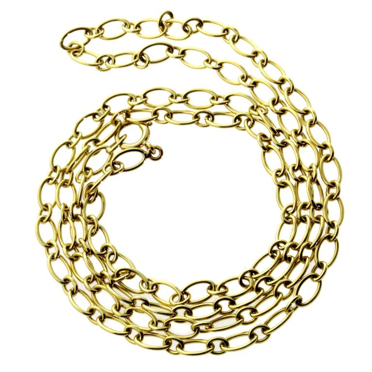 Cartier Gold Link Sautoir Necklace For Sale