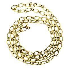 Cartier Gold Link Sautoir Necklace