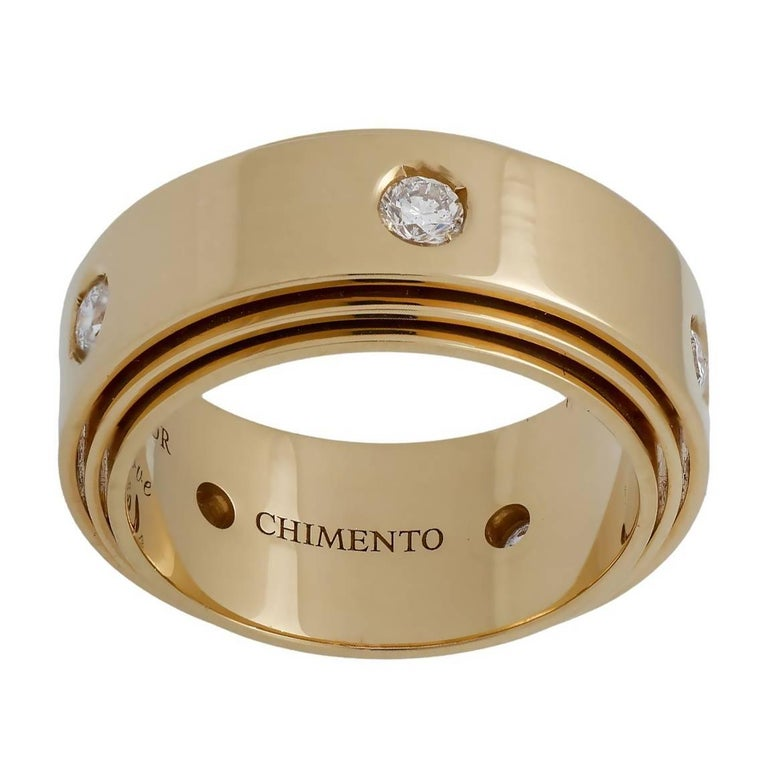 Chimento Diamond Yellow Gold Band Ring