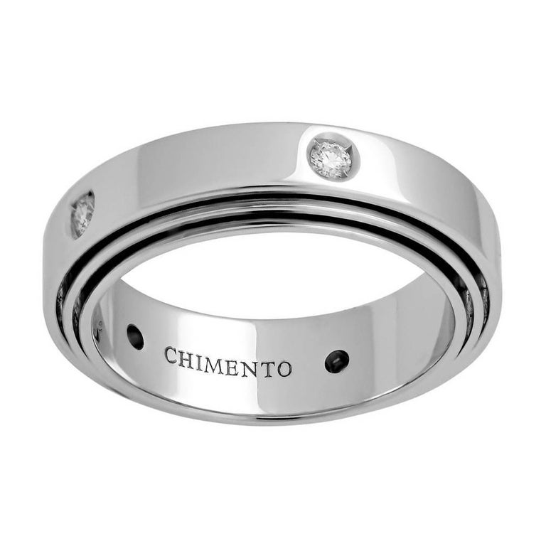 Chimento Diamond White Gold Band Ring