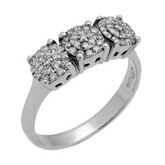 Chimento past Present Future Diamond Ring