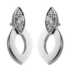 Cartier Diadea Diamond Gold Earrings