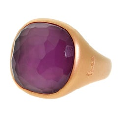 Pomellato Amethyst Rose Gold Gemstone Ring