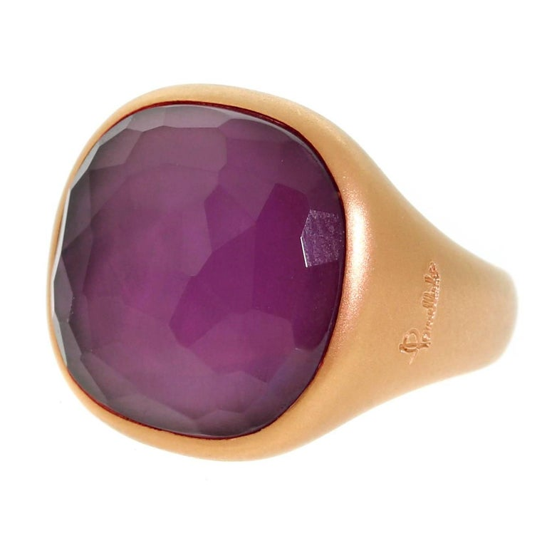 Pomellato Amethyst Rose Gold Gemstone Ring