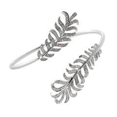 Chanel Plume De Chanel Double Diamond Bangle Bracelet