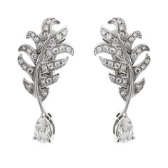 Chanel Plume De Chanel Diamond Earrings