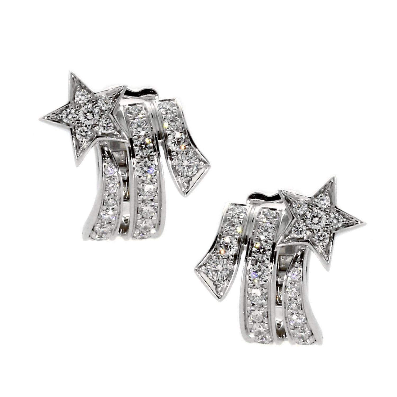 Chanel earrings 42 for sale at 1stdibs chanel comete shooting star diamond earrings arubaitofo Images
