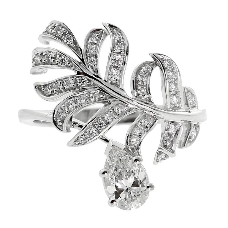 Chanel Plume Diamond Gold Cocktail Ring