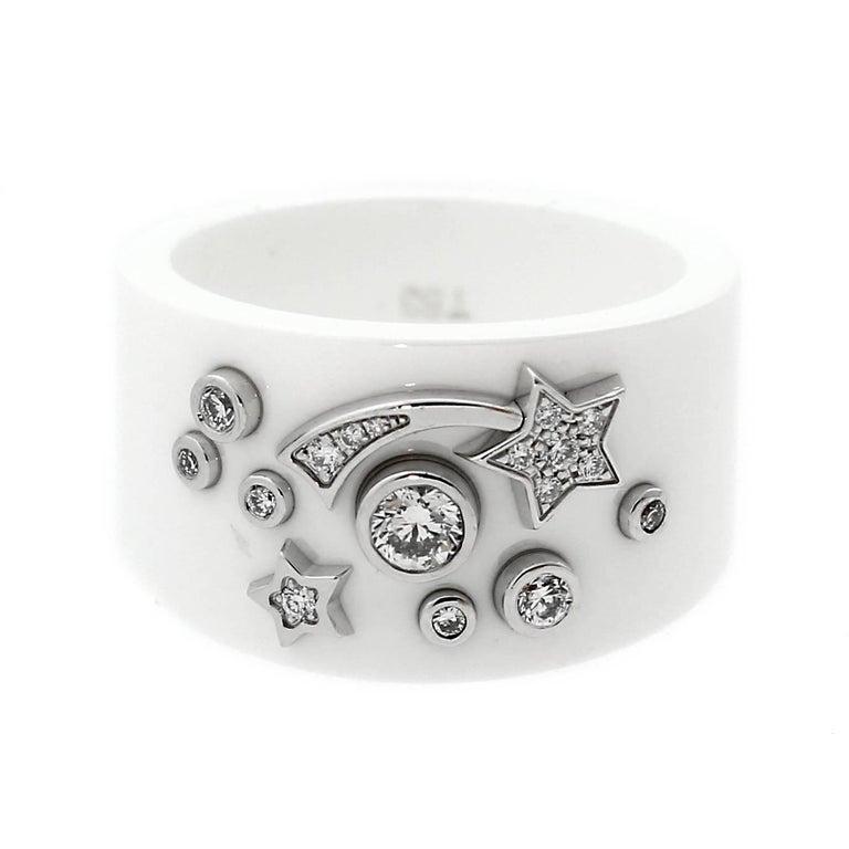 Chanel Comete Ceramic Large Diamond Ring