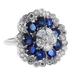 Van Cleef & Arpels Camellia Sapphire Diamond Ring
