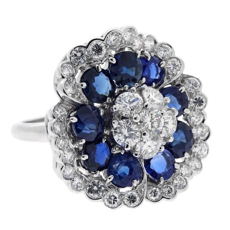 Van Cleef & Arpels Camellia Sapphire Diamond Ring 1