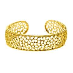 Buccellati Filidoro Gold Bangle Bracelet