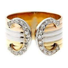 Cartier C De Cartier Diamond Gold Ring