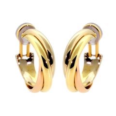 Cartier Trinity Medium Hoop Gold Earrings
