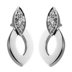 Cartier Diadea Diamond White Gold Earrings
