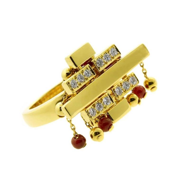 Cartier Le Baiser Du Dragon Diamond Gold Ring For Sale