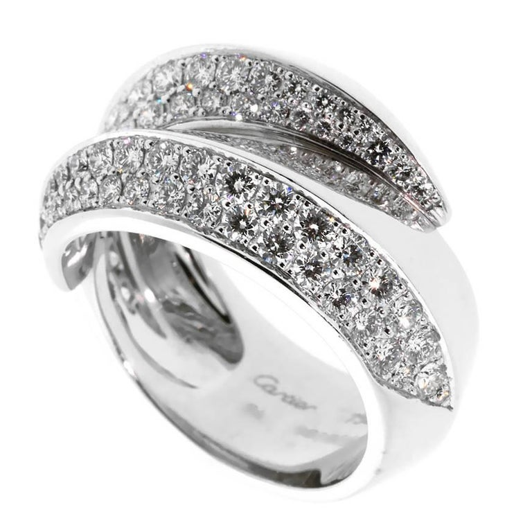 Cartier Bypass Panthere Diamond Ring