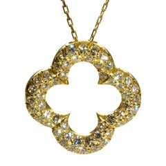 Van Cleef & Arpels Alhambra Diamond Gold Necklace