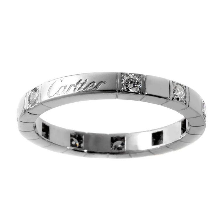 Cartier Lanieres Diamond Gold Band Ring at 1stdibs