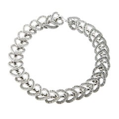 Heart Diamond White Gold Bracelet