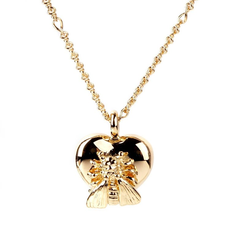 Gucci Le Marche des Merveilles Bee Gold Necklace
