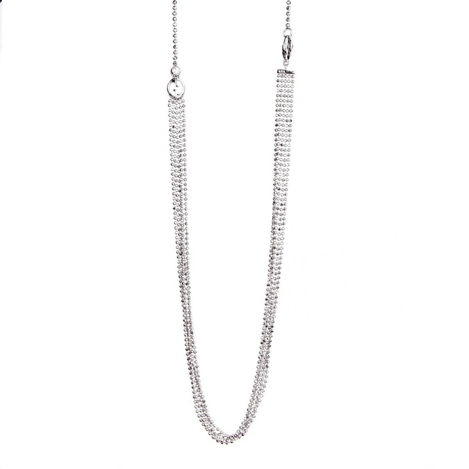 2938c0b5583 Gucci Multistrand White Gold Diamond Necklace at 1stdibs