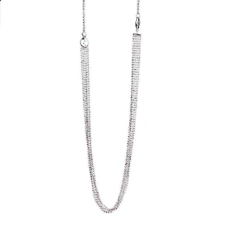 Gucci Multistrand White Gold Diamond Necklace