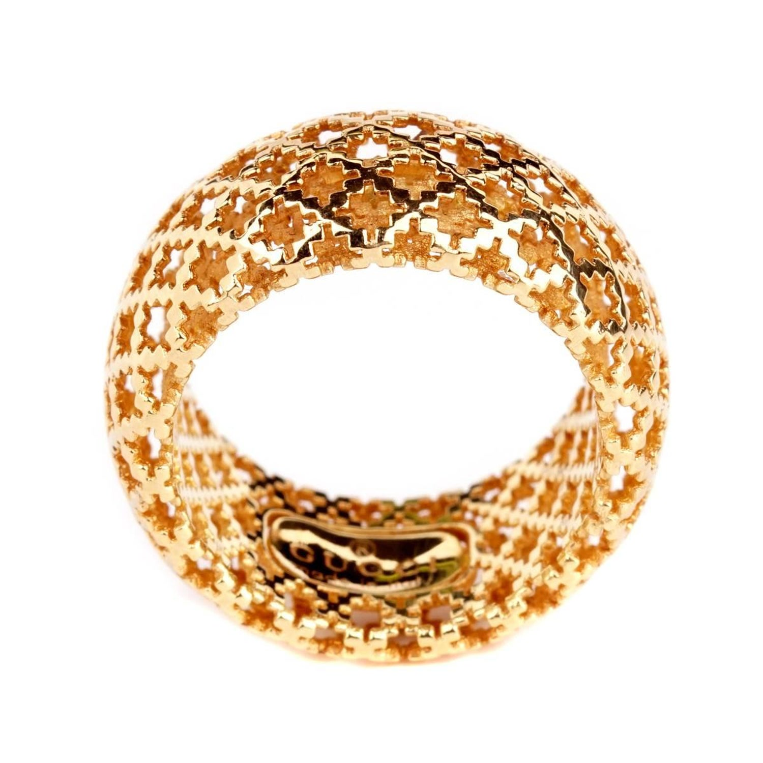 e70d1a5d5 Gucci Diamantissima Gold Open Ring at 1stdibs