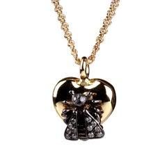 Gucci Le Marche des Merveilles Bee Diamond Necklace