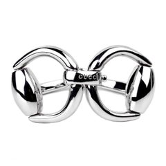 Gucci Horsebit Silver Bangle Bracelet