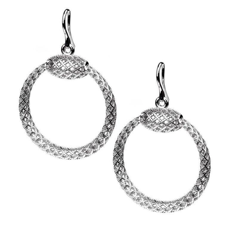 368713e9457 Gucci Diamantissima Hoop Silver Earrings at 1stdibs