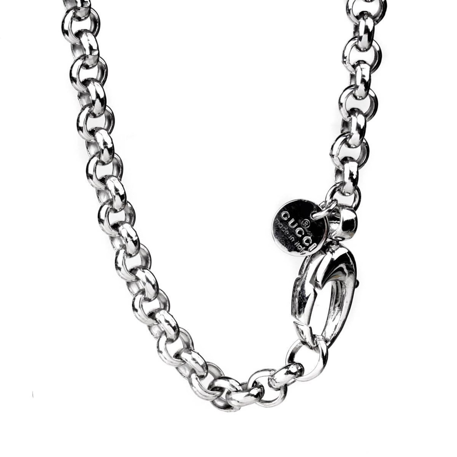 ec9ef95e0e1 Gucci Horsebit Diamantissima Silver Necklace at 1stdibs
