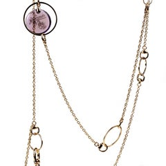 Gucci Flora Amethyst Drop Necklace